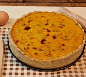 Quiche de calabaza y queso gorgonzola