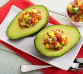 Aguacates rellenos: receta vegetariana