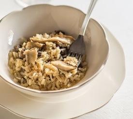 Cómo preparar risotto de setas y castañas