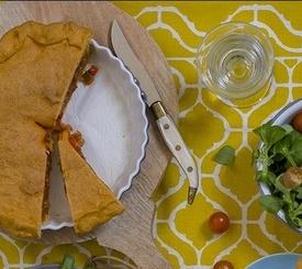 Cómo preparar un rica empanada vegetal casera