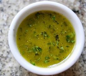 Vinagreta fácil de lima y cilantro