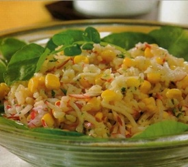Ensalada de arroz fácil y rica